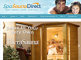 Spa Sauna Direct website detail images