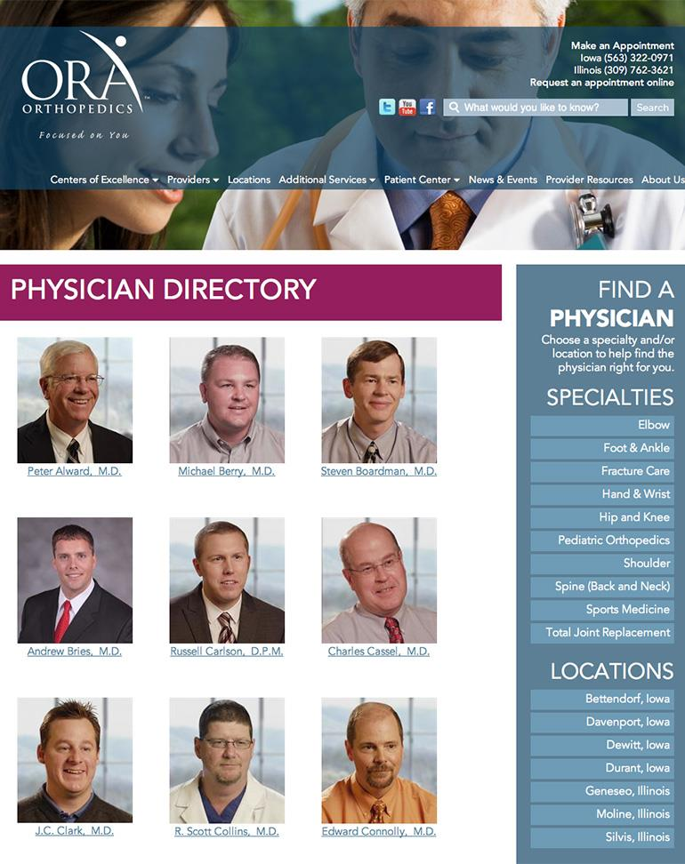 ORA Orthopedics Apps