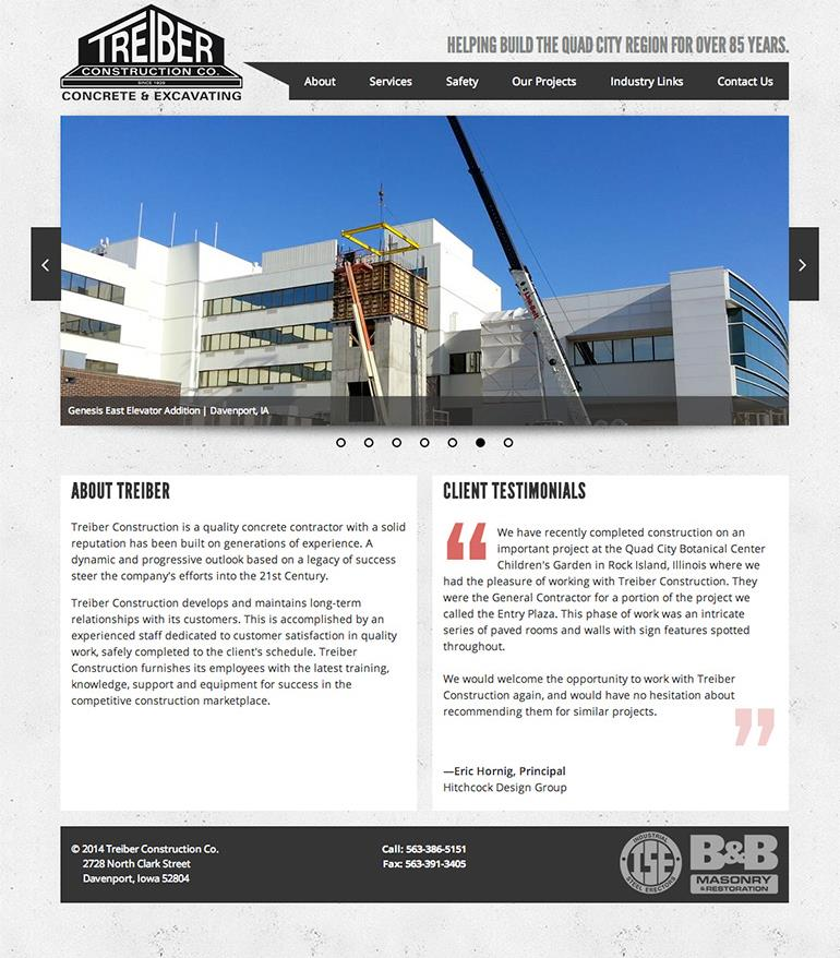 Treiber Construction Homepage
