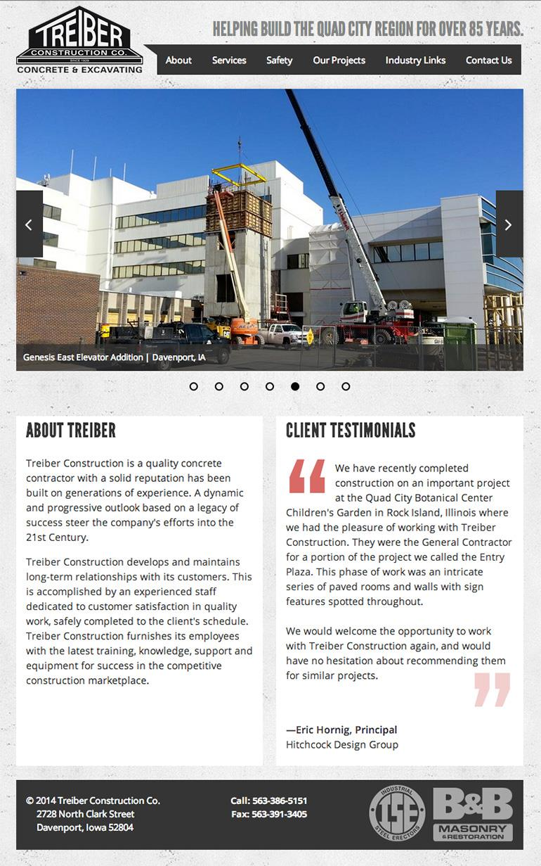 Treiber Construction Employee Directory Page
