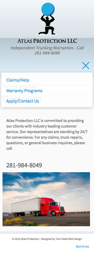 Mobile Warranty Page