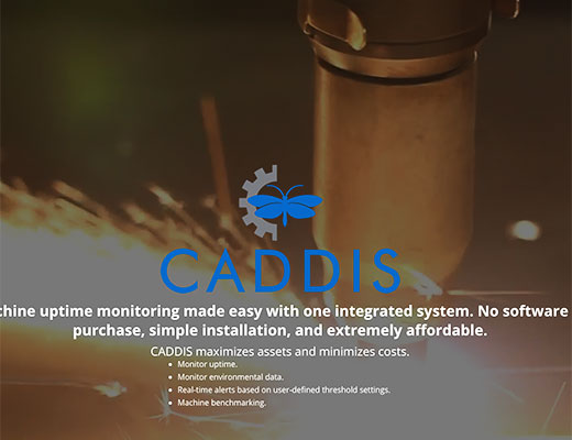 Caddis website detail image