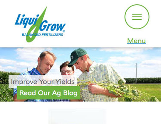 Liqui-Grow website detail image