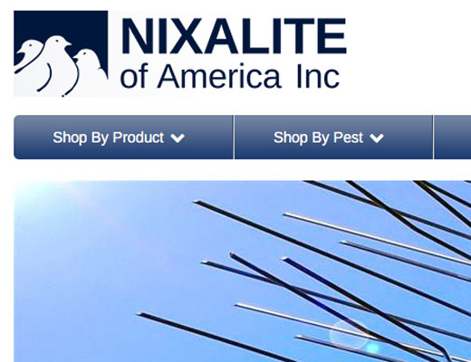 Nixalite home page screenshot