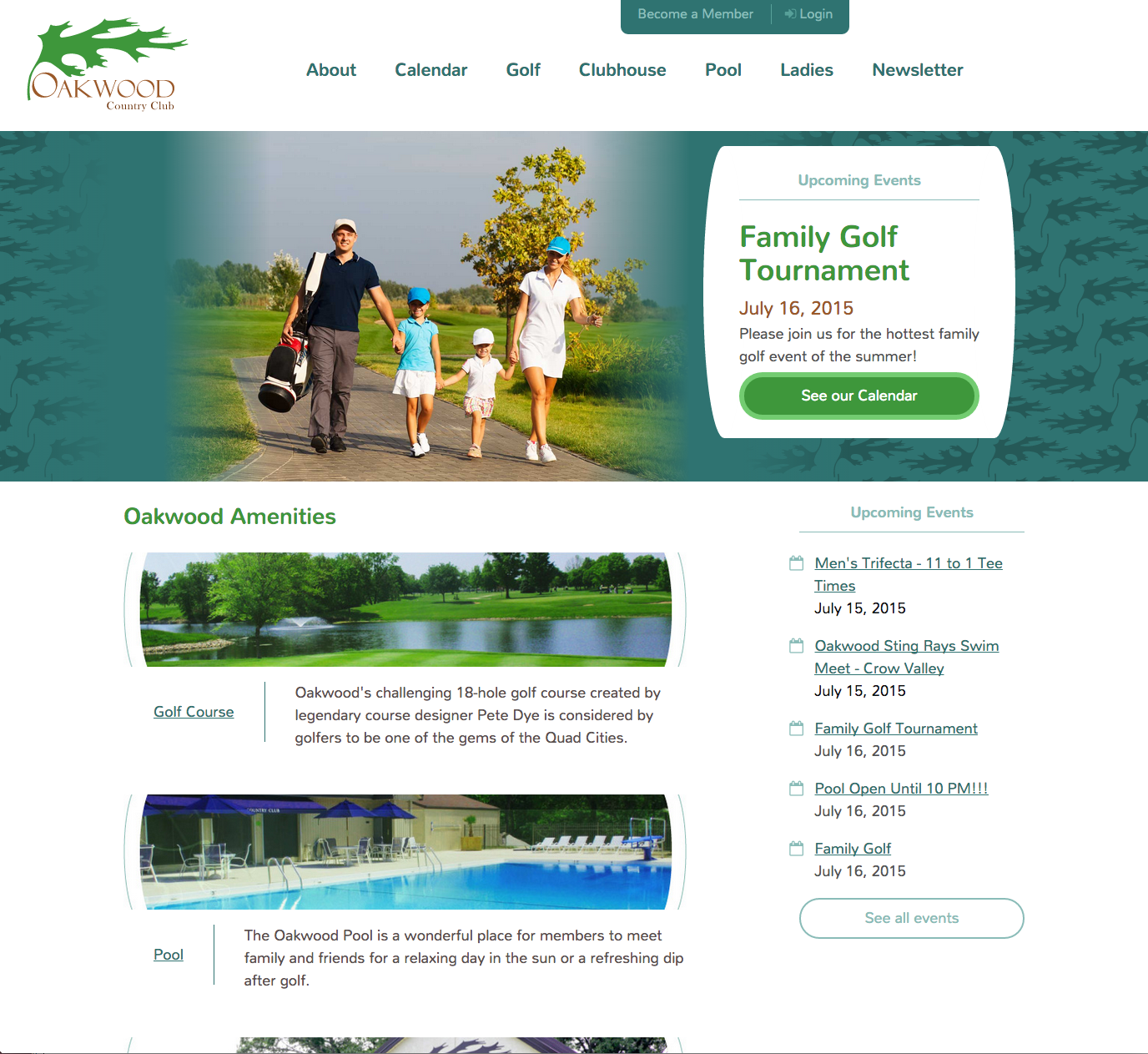 Oakwood Country Club home page