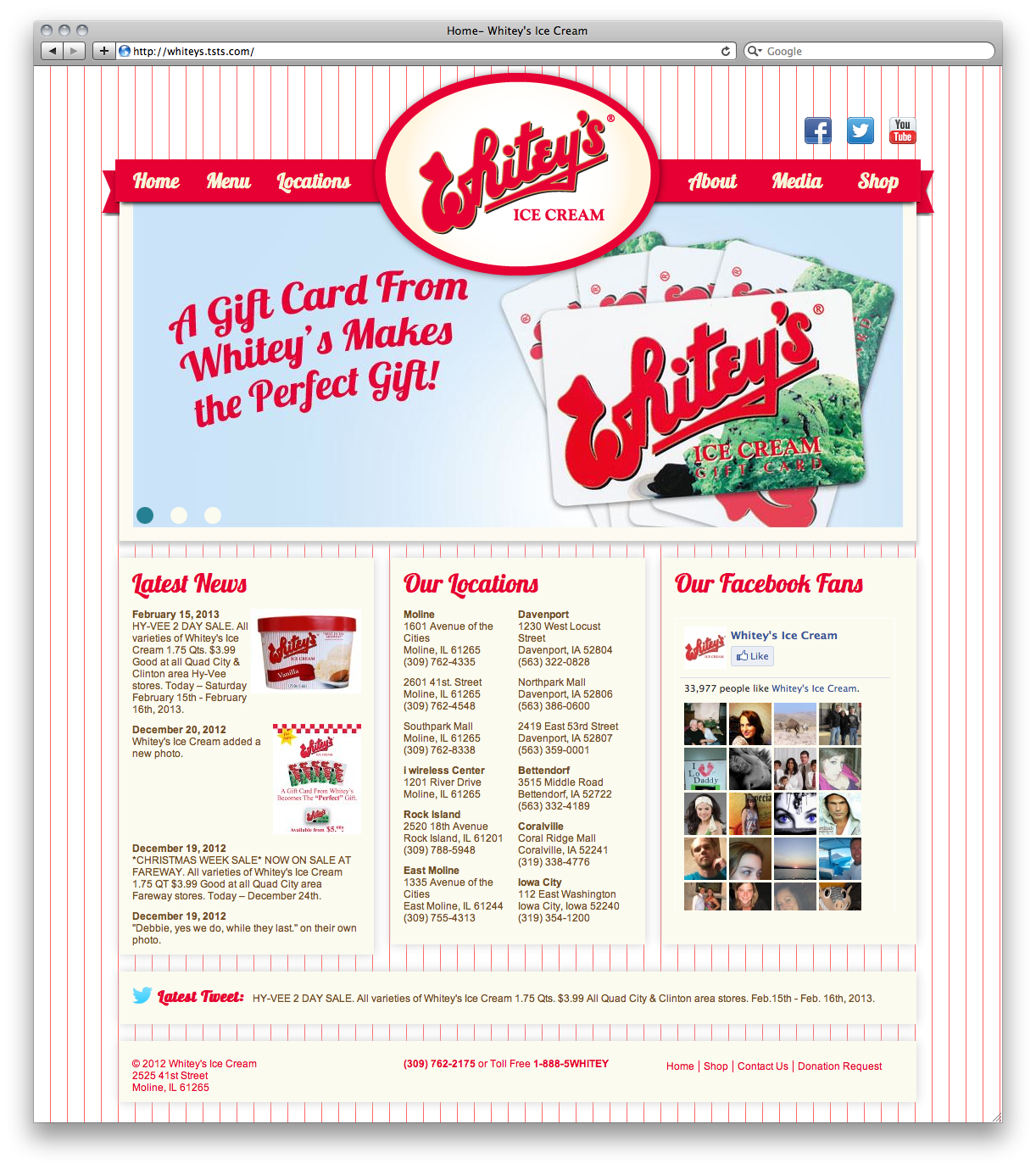 Whitey's Ice Cream Home Page