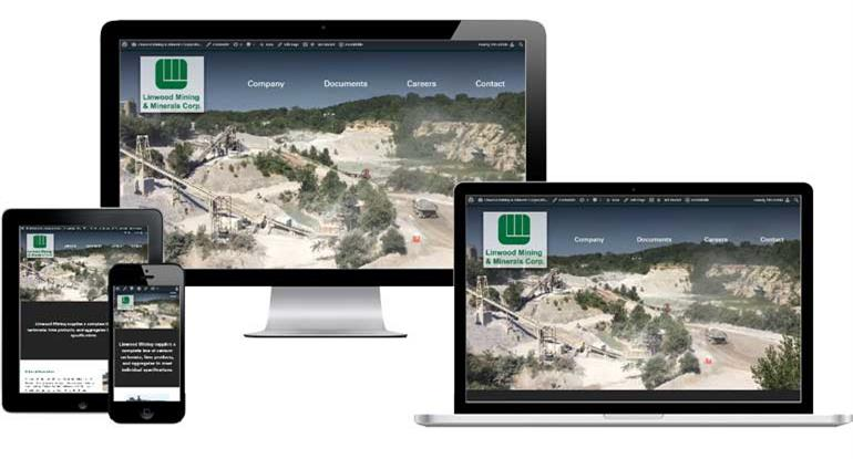 Screenshot of Linwood Mining website on devices