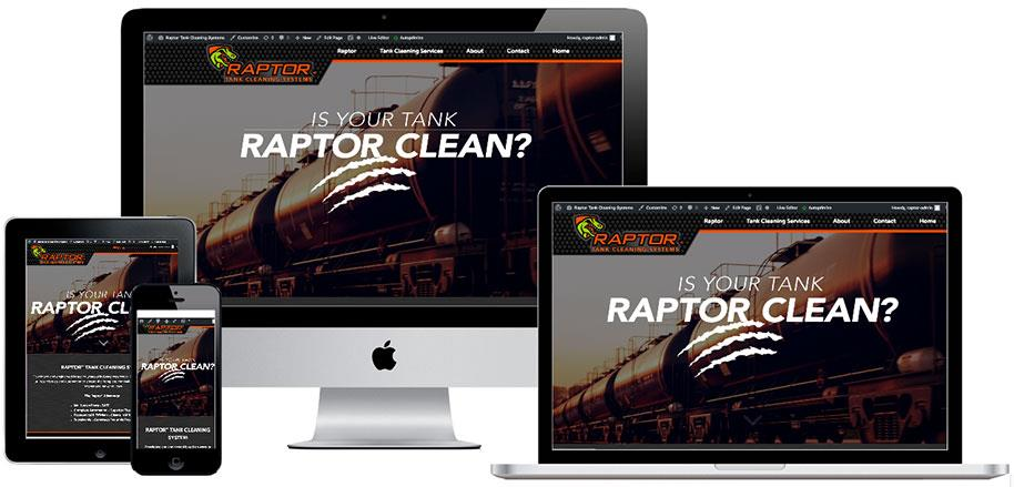 Raptor website preview on multiple devices