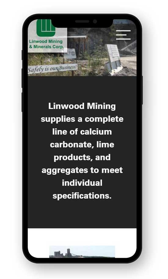 Linwood Mining on mobile