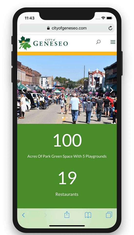 City of Geneseo on mobile