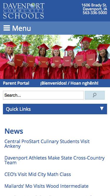 Davenport Schools - Twin State Web Design