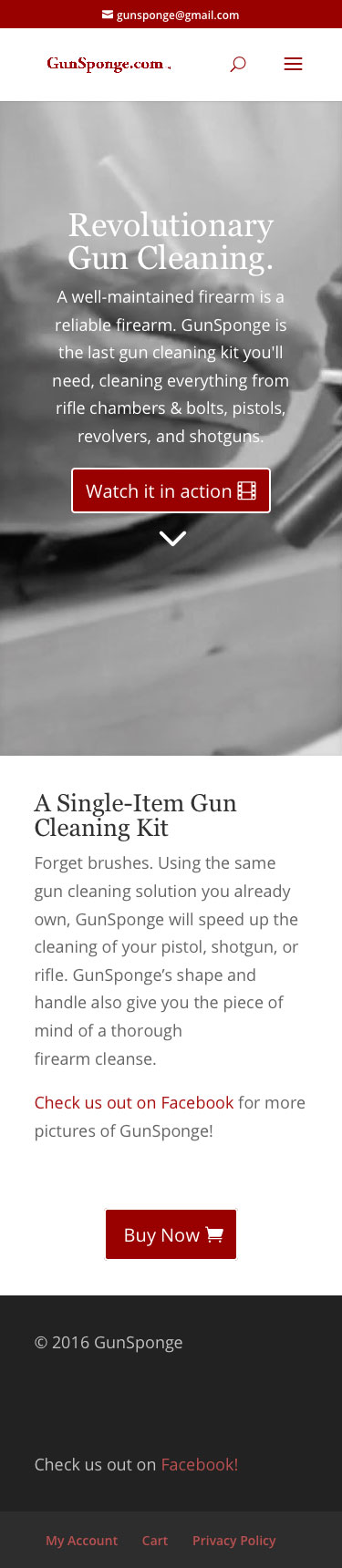 Gunsponge Mobile Home Page Screenshot