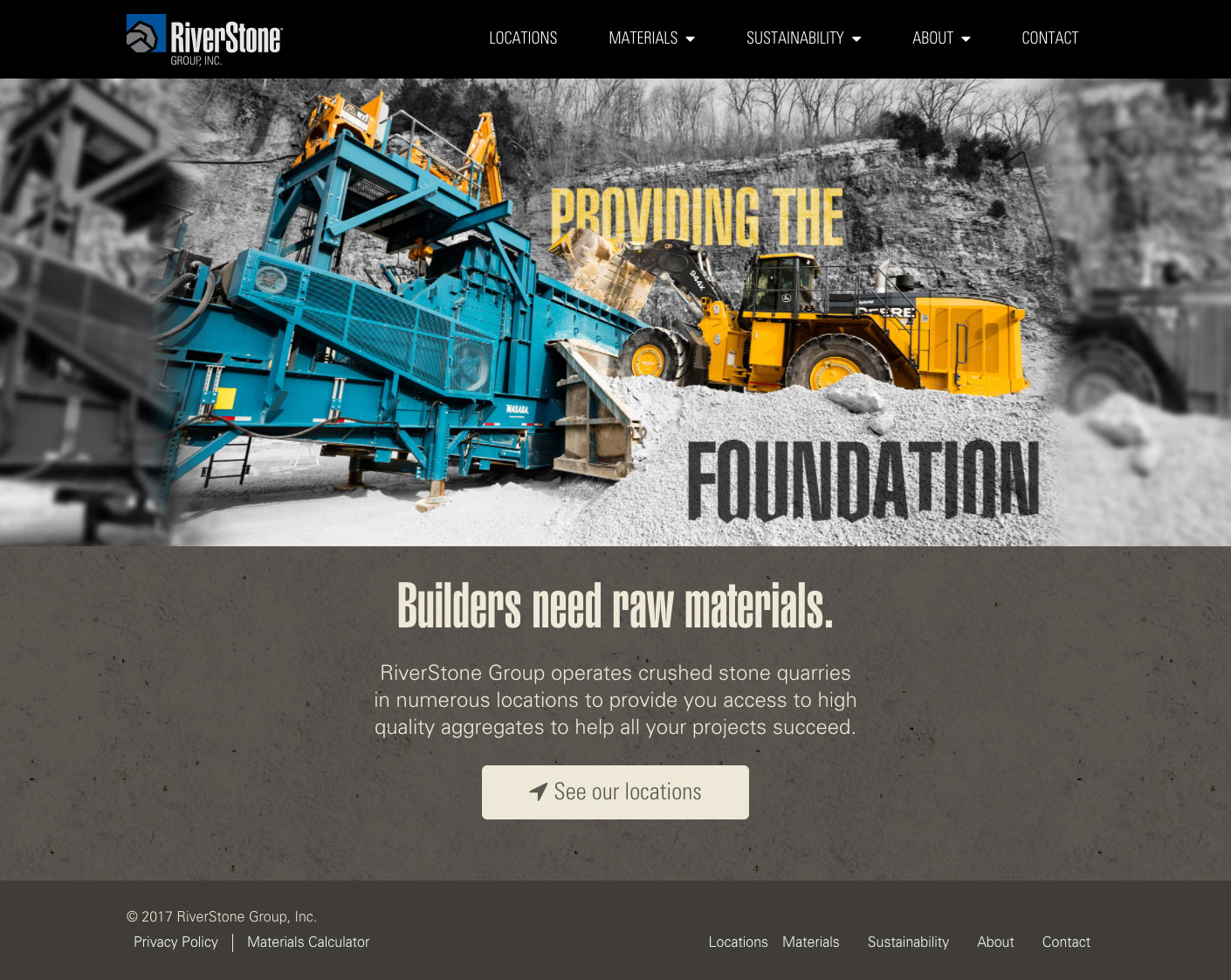 Riverstone Group homepage screenshot